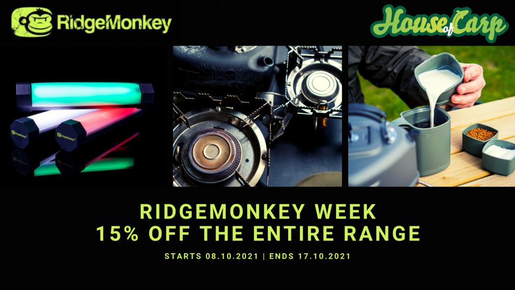We know how to RidgeMonkey – 15% korting bij House of Carp!