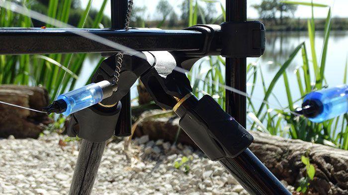 De middelste hanger/swinger kan volledig naar beneden zakken.
