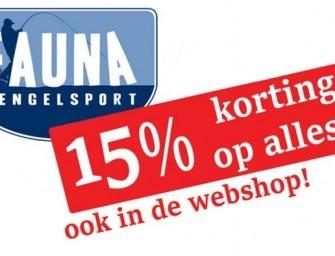 Open dagen met 15% korting op het gehele assortiment bij Fauna Hengelsport!