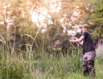 Willem Kwinten op pad met de Sportex Catapult Stalker 10ft hengels