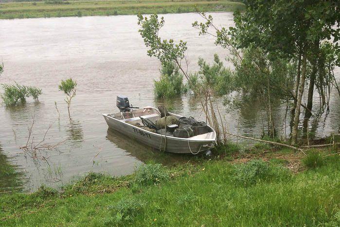De hoge waterstand maakt het vissen onmogelijk