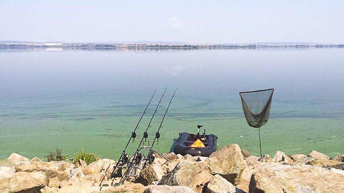 De blauwalg op de stek zorgt ook voor problemen en zal zeker niet helpen om vis te strikken.