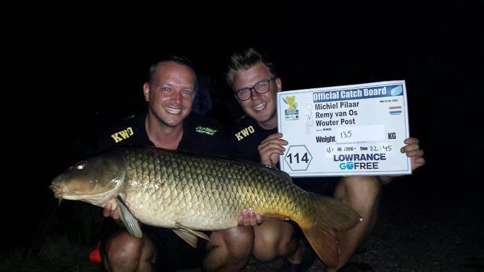 De laatste grote vis van de KWO stek, peg 114, gevangen door Remy van Os!