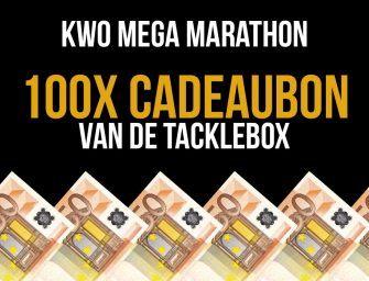 WIN 100 x €50,- shoptegoed bij De Tacklebox – KWO Mega Marathon