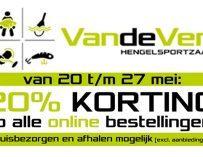 20% online korting bij Hengelsportzaak Van de Ven