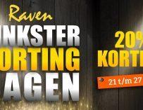 Deze week: Pinkster Korting Dagen bij Raven, 20% Korting op alles!