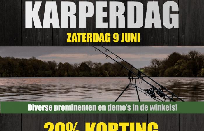Aanstaande zaterdag: Karperdag bij Raven Hengelsport met 20% korting