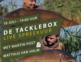 Aanstaande woensdag: Het Tacklebox Spreekuur – Don't miss it!