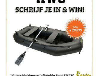 Drop je emailadres en WIN een WATERSIDE Rubberboot bij Raven!