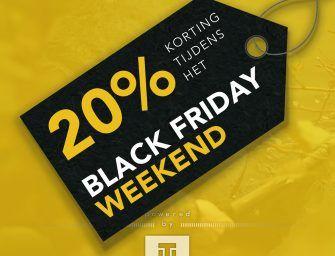 Dit weekend 20% korting bij De Tacklebox – 3 DAGEN BLACK WEEKEND