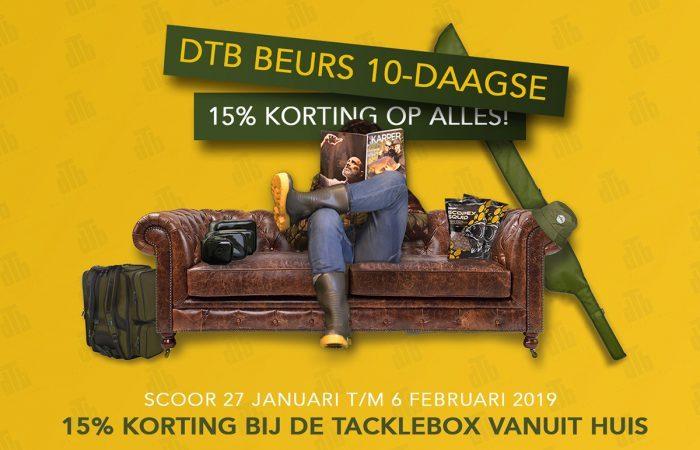 15% korting tijdens de Tacklebox Beurs 10-daagse