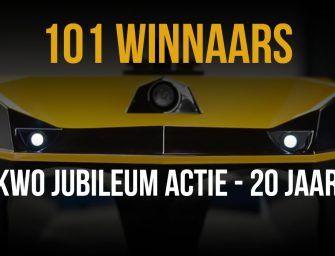 Dit zijn de 101 WINNAARS van de KWO JUBILEUM ACTIE