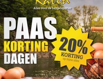 20% korting bij Raven Hengelsport tijdens Pasen!